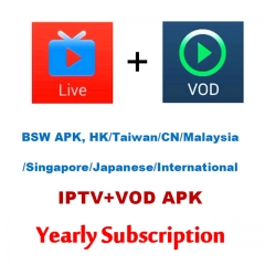 BSW apk, HK/Taiwan/China/Malaysia/Singapore/Japanese/International IPTV+VOD Subscription